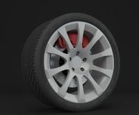 3d model of 19 rim diskbrake