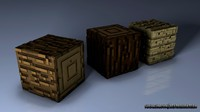 3d minecraft blocks model