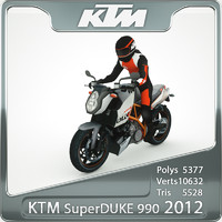 2012 ktm super duke 3d obj