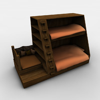 3d model of bunk beds double