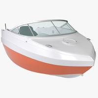 mini cabin boat 3d max