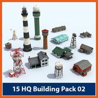 3d pack buildings