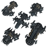 Low-Poly Game-Ready Astra Starship Pack 2