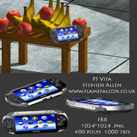sony playstation ps vita 3d model
