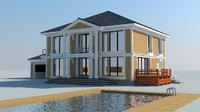 clasic house 3d model