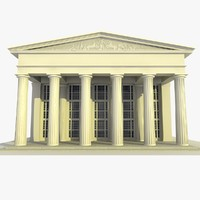 3d old classical building 15 model
