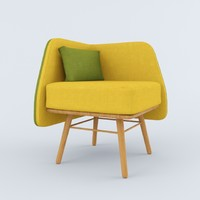 3d model bi silla chair