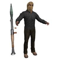 3dsmax terrorist man