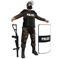 maya riot police officer