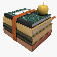 3d old books belt model
