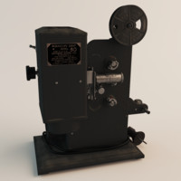 kodak film projector 3d model