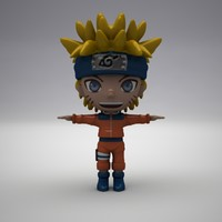 3d model naruto modelled