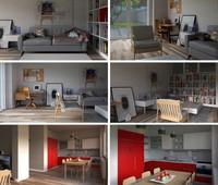 3d home interior 01