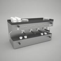 coffee machine 3d max