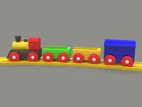 toy locomotive train 3d 3ds