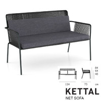 3ds max kettal net sofa
