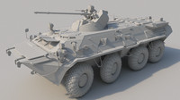 3d model btr 80a