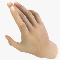 realistic female hand anatomy 3d max