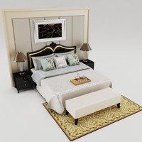 3ds max bed set