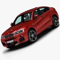 3d model 2015 bmw x4