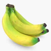 realistic banana 1 3ds