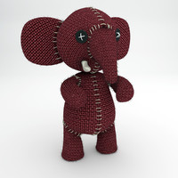 cartoon character elephant 3ds