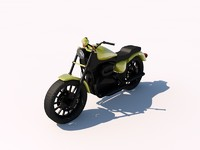 3d model harley davidson street motorcycle chopper