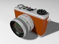 free retro camera 3d model