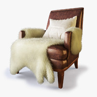 Designer Lounge Chair - Fur