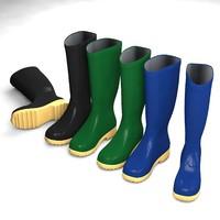 wellington boots 3d c4d