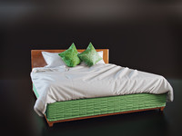 bed cloth simulated 3d model