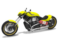 3d model of motorcycle harley davidson