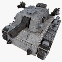 3d heavy tank unique sci fi model