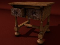 renaissance table 3d 3ds