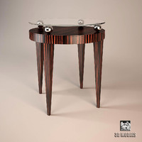 3d max oak table design