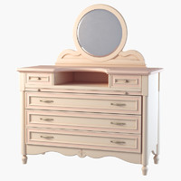 dressing table ferretti 3d model