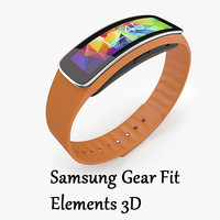Samsung Gear Fit Orange Elements 3D