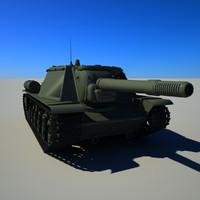 soviet tank su-152 3d 3ds