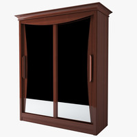 furniture sliding doors wardrobe 3d model