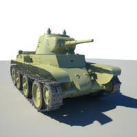 bt-7 soviet tank 3d model