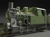 3d polish steam locomotive model