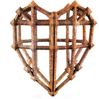 3d iron heart love model