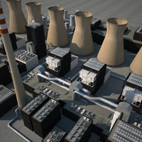 3d model power plants