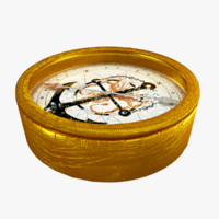3d model of golden compass