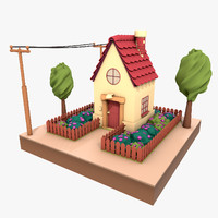 3ds max cartoon house