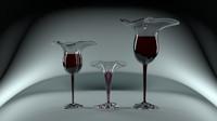 glasses liquid 3d model