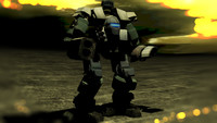 3d heavy mech warrior