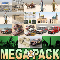 arab mega 2 city c4d