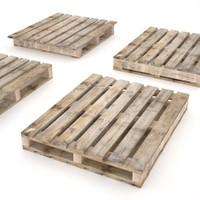 3d model pallets -