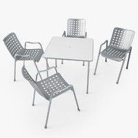vitra landi chair davy 3d model